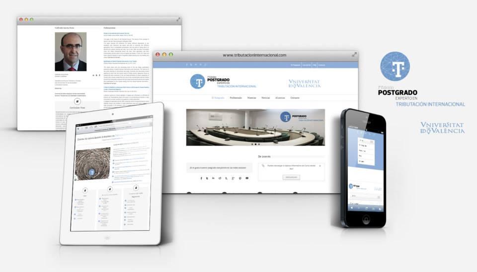 Diseño y programación Web Postgrado experto en tributación internacional