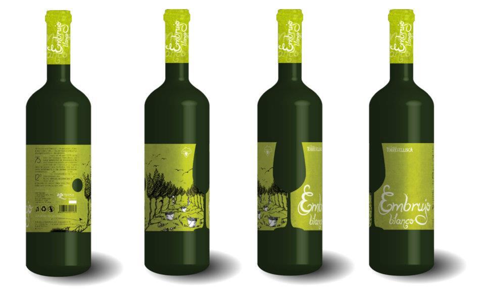Infografías previas, diseño packaging/labeling y cápsulas vino blanco Torrevellisca