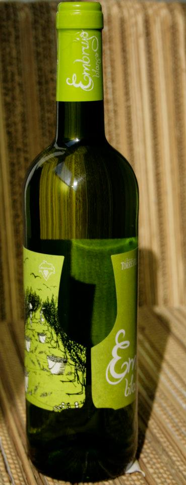 Embrujo blanco. Detalle troquel etiqueta. Diseño labeling para vino blanco de las bodegas Torrevellisca-Zagromonte