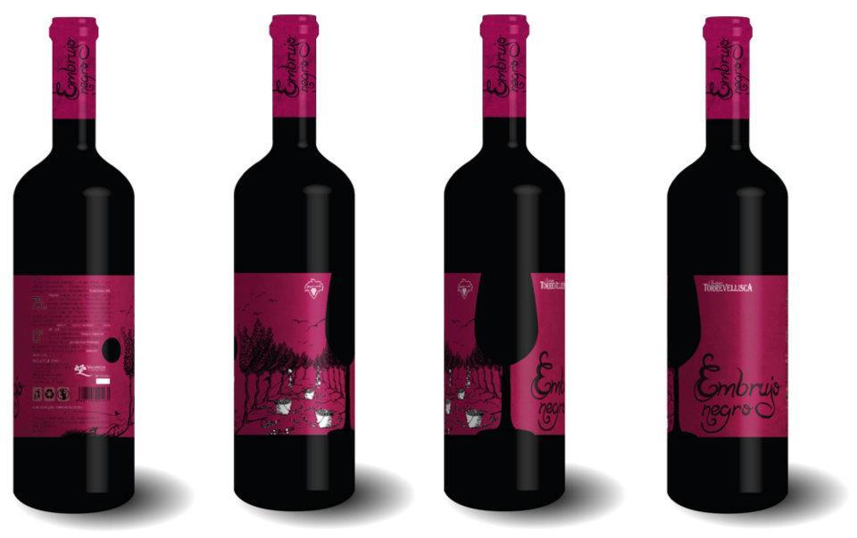 Infografías previas, diseño packaging/labeling y cápsulas vino tinto Torrevellisca