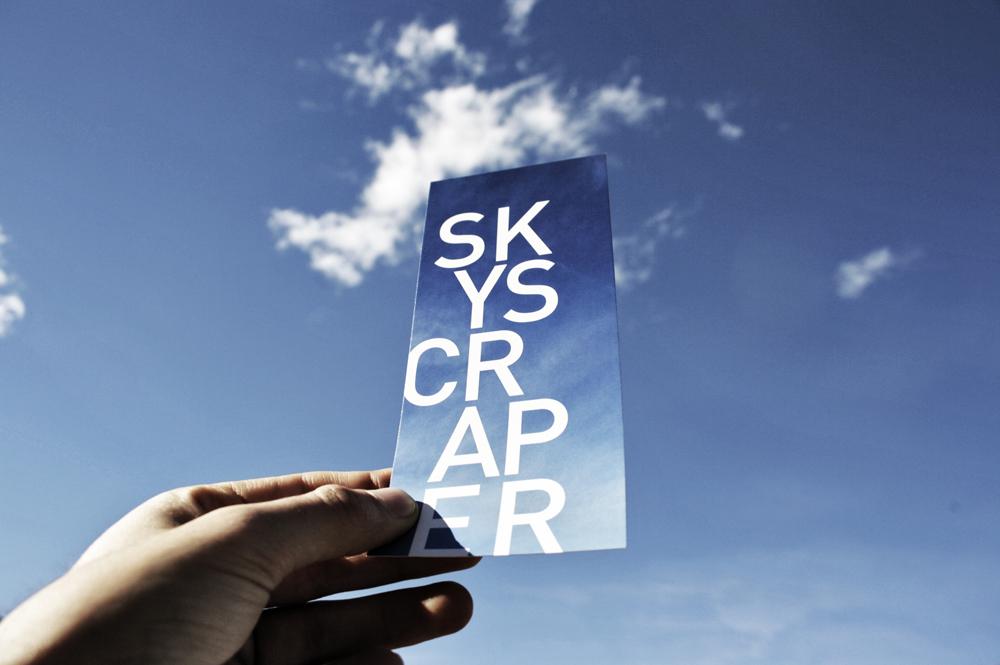 Impresión flyers exposición skyscraper. offset CMYK 4+4 sobre papel estucado mate 350gr