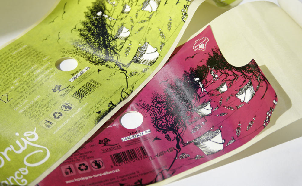Impresión offset CMYK etiqueta Embrujo Torrevellisca