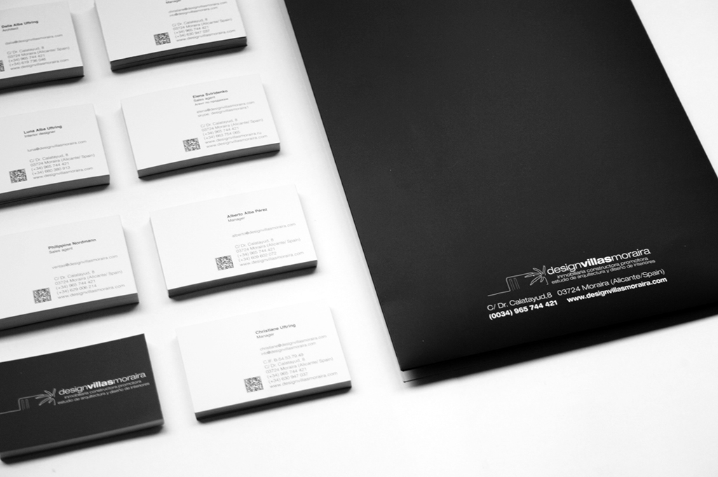 Carpeta + tarjetas Design Villas Moraira by Archicercle