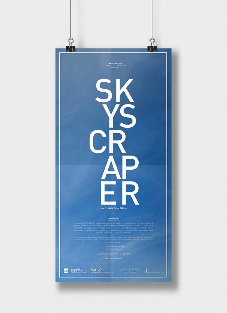 infografía cartel exposición skyscraper realizada por Daniel Rueda.