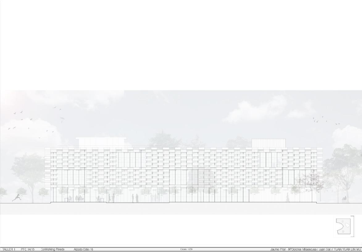 Visualización y modelado coworking Pinedo by Archicercle