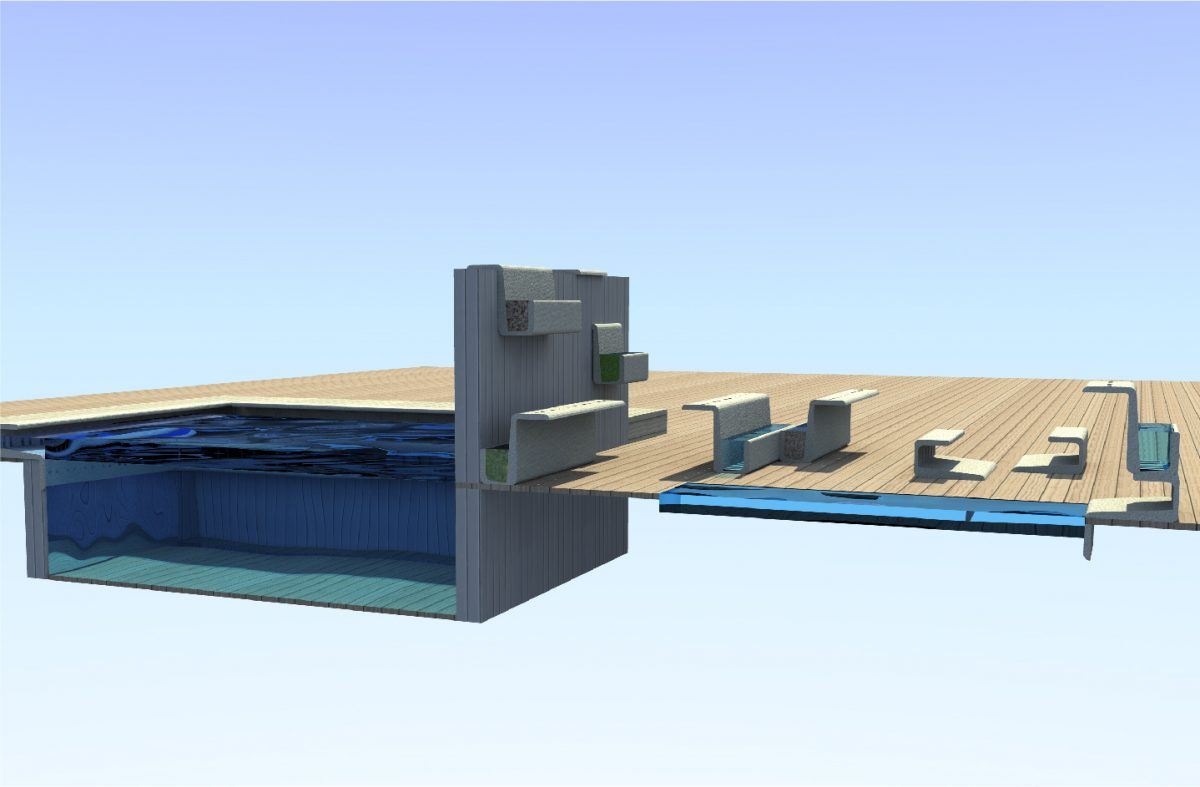 Archicercle estudio creativo arquitectura dise o for Borde piscina hormigon