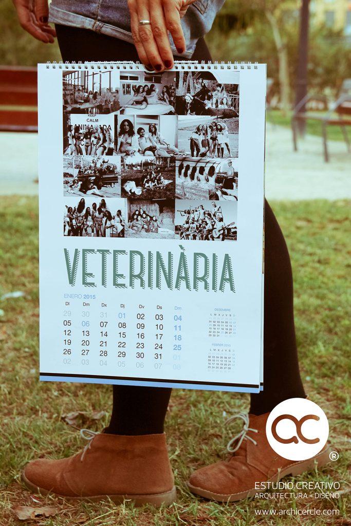 Calendario y sudaderas facultad veterinaria by Archicercle
