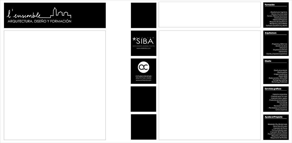 Diseño y producción imagen Corporativa L'Ensemble by Archicercle