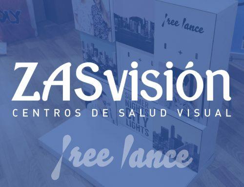 Diseño y fabricación expositores Freelance – Zas Visión –