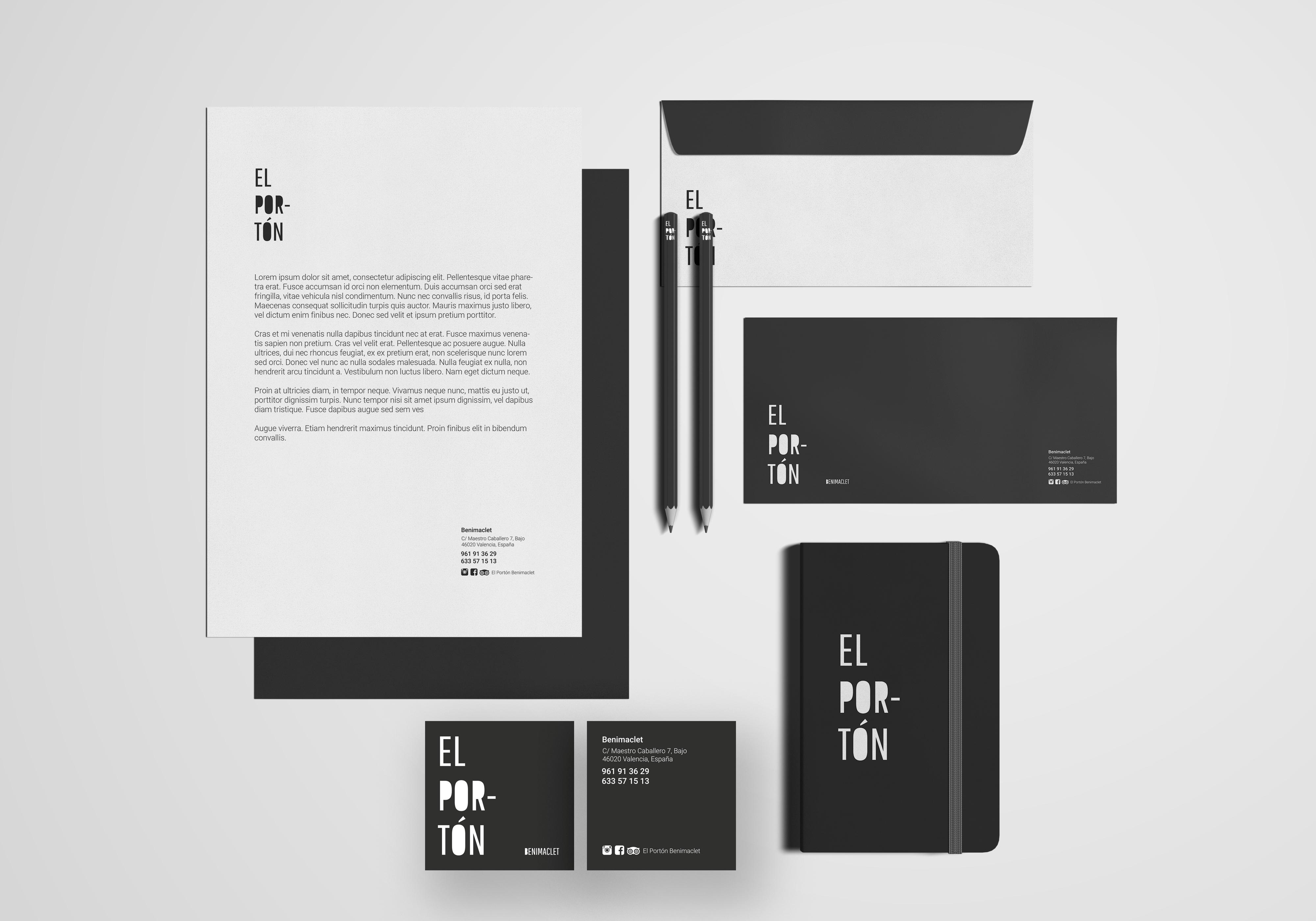 Mockup-branding-identidad-corporativa-el-porton-restaurante archicercle project