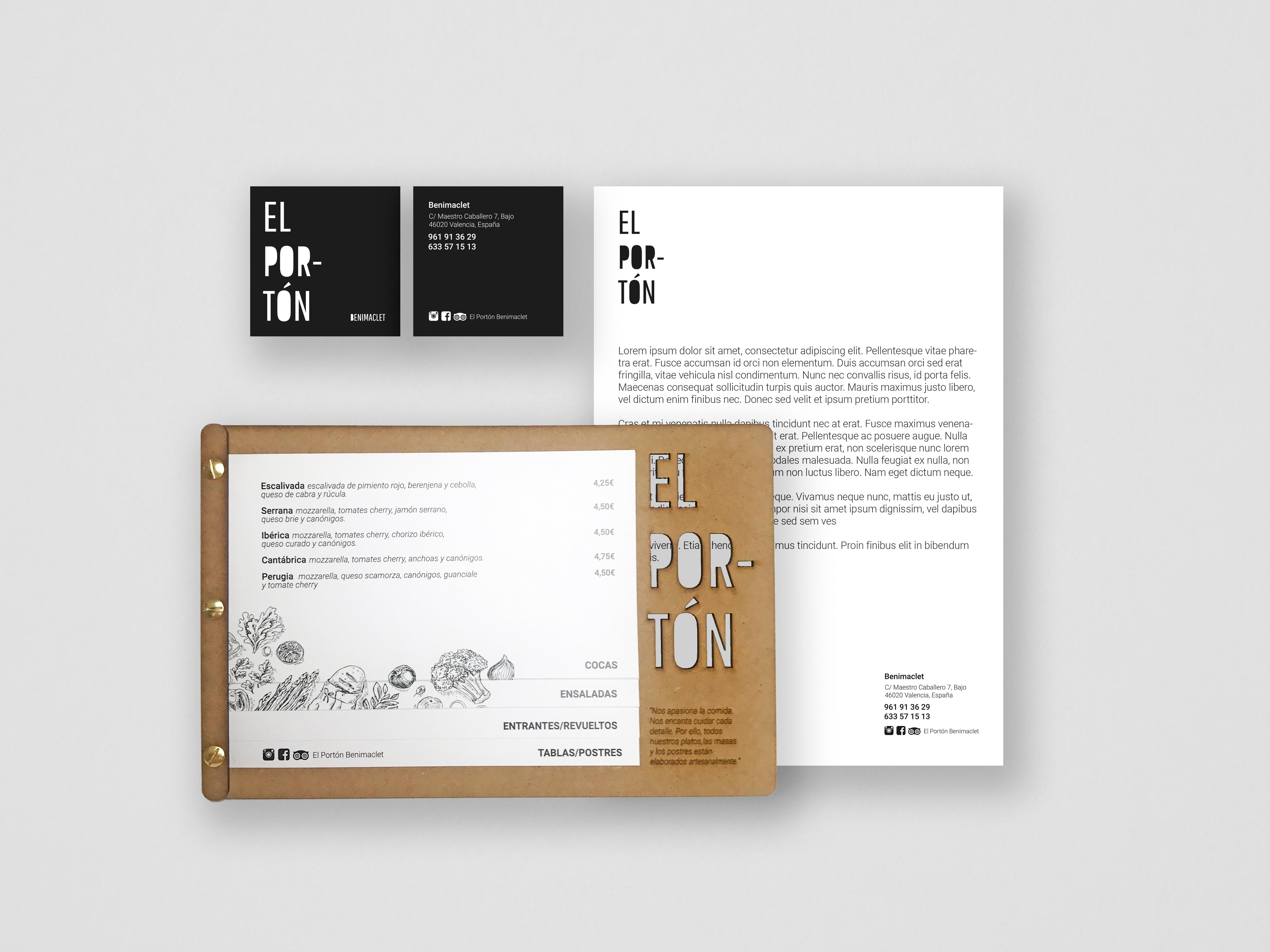 branding, imagen coporativa valencia, corte láser y rotulación el portón por archicercle