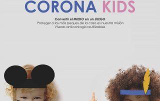 Viseras anticontagio niños y niñas COVID-19